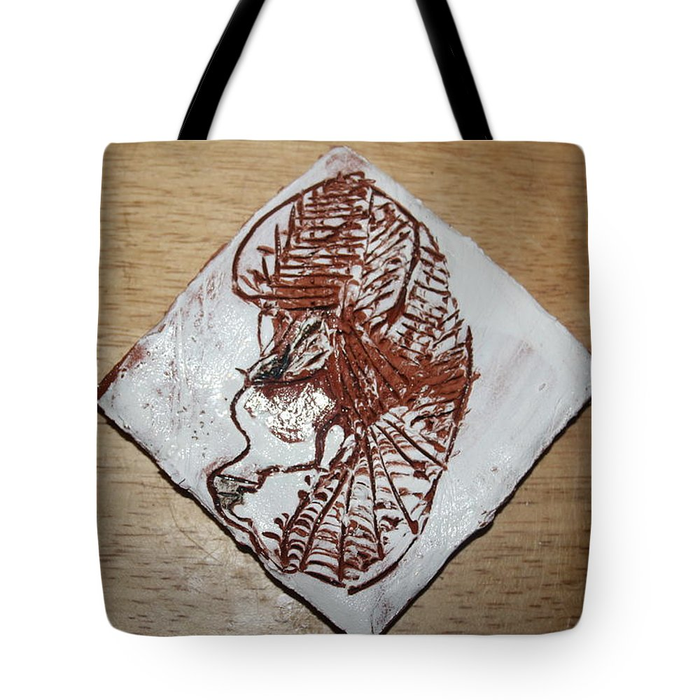 Jesus Tote Bag featuring the ceramic art Repose - Tile by Gloria Ssali
