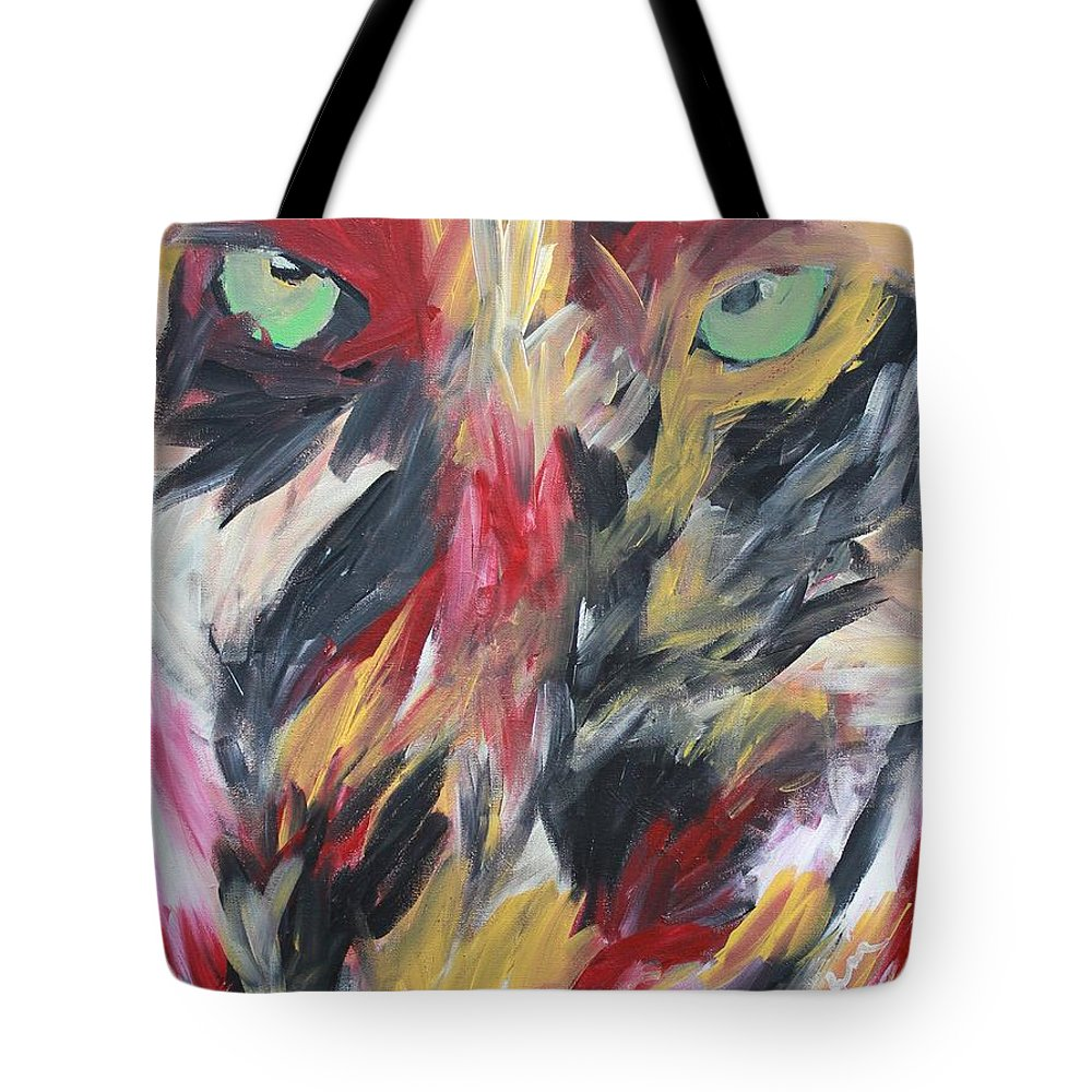 Revenge Tote Bag featuring the painting Revenge by Melissa Nay