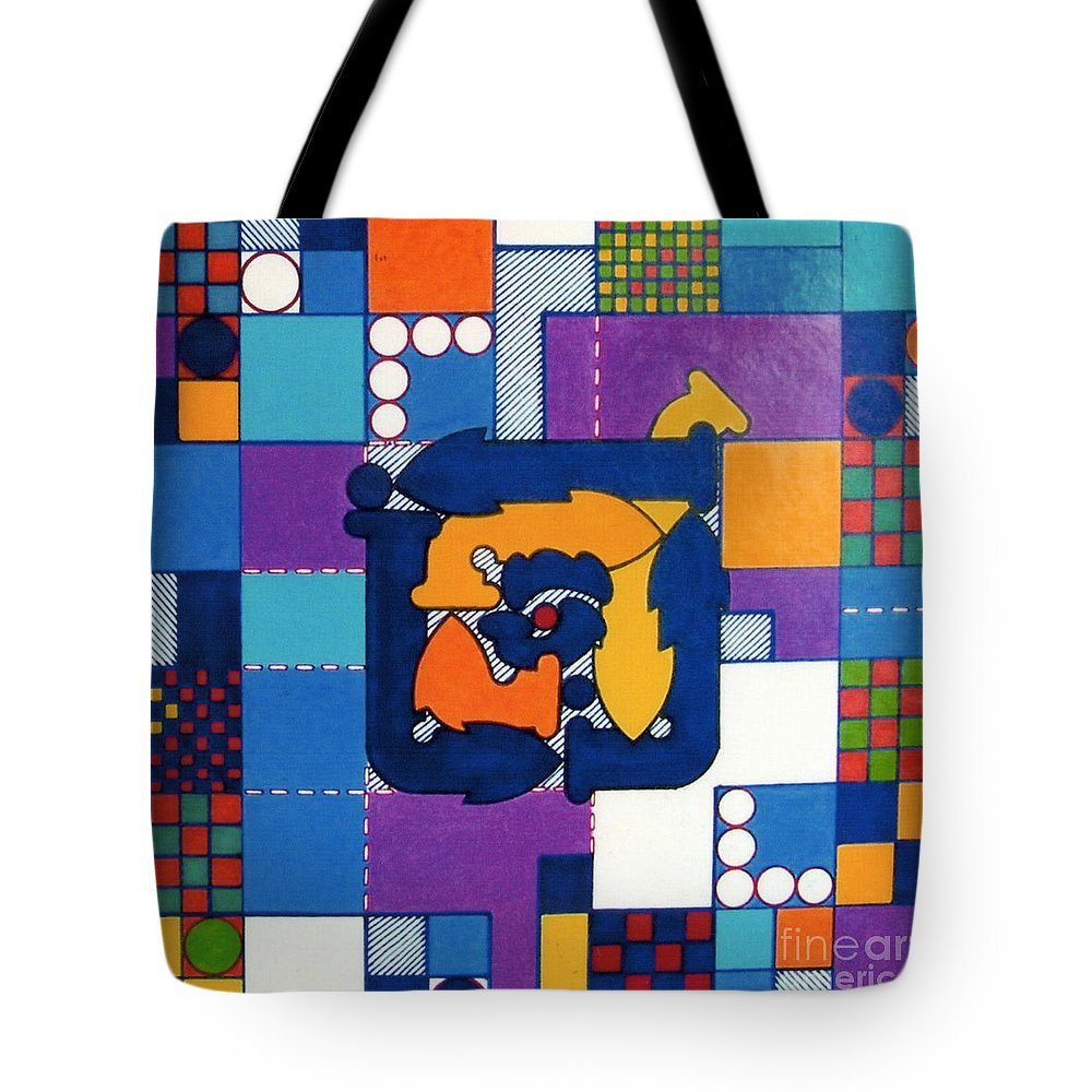 Changing Direction Tote Bag featuring the drawing Rfb0567 by Robert F Battles