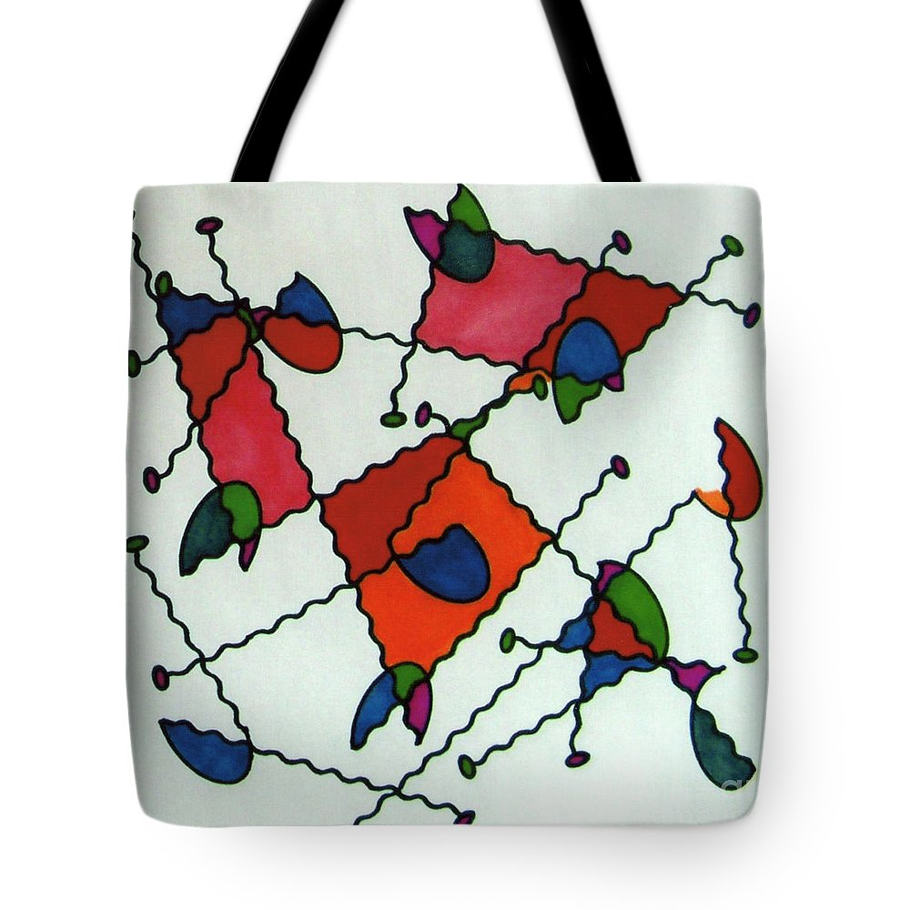 Ladybugs Tote Bag featuring the drawing Rfb0581 by Robert F Battles