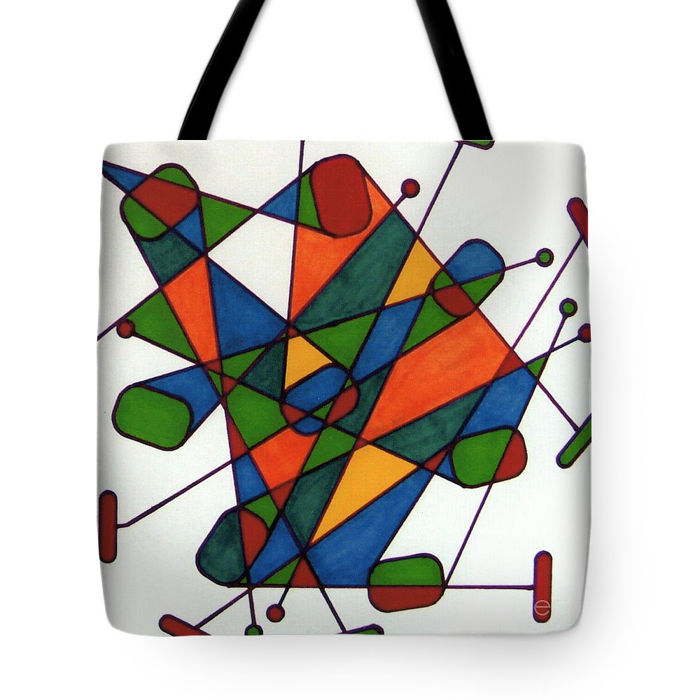 Tote Bag featuring the drawing Rfb0590 by Robert F Battles