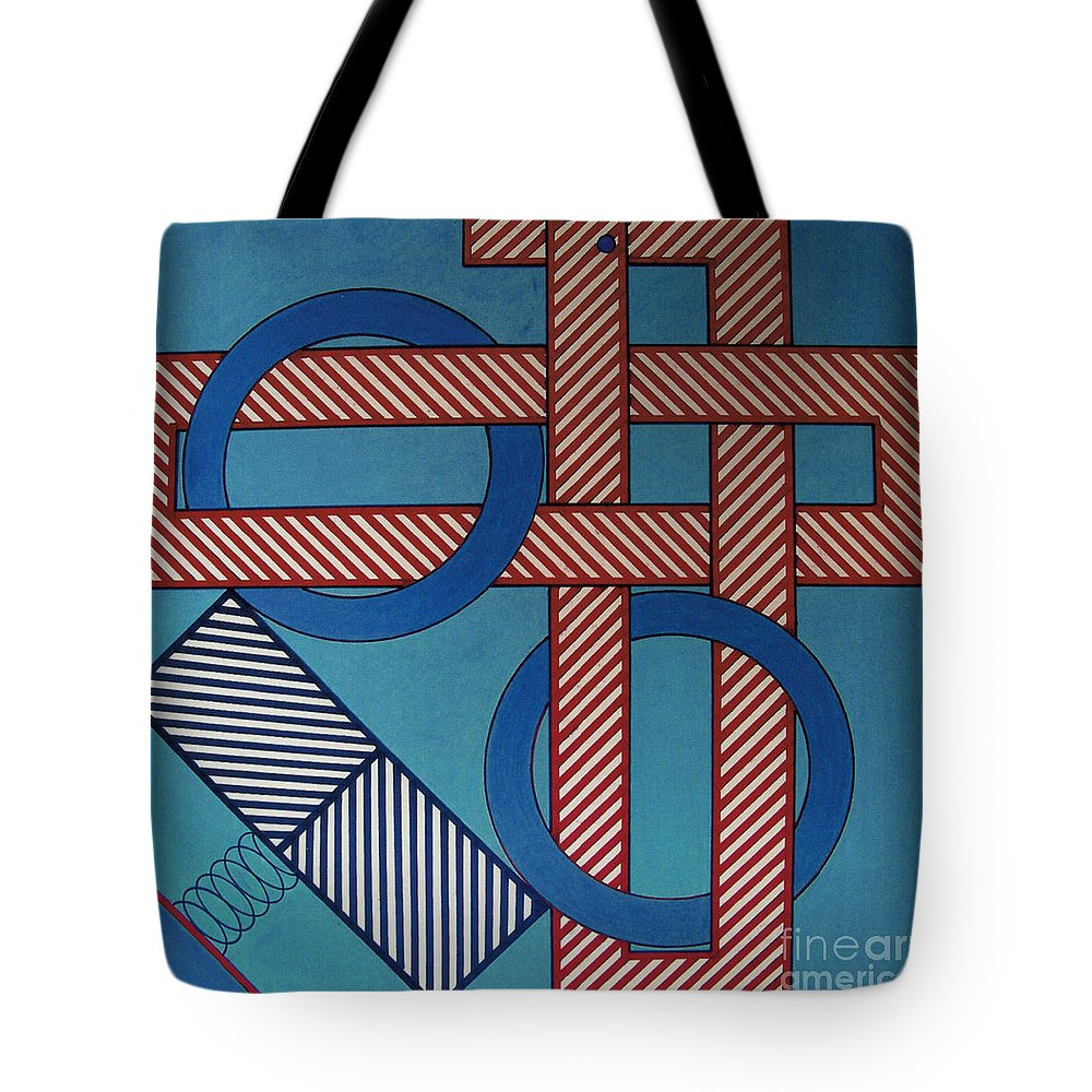 Abstract Tote Bag featuring the drawing Rfb0625 by Robert F Battles