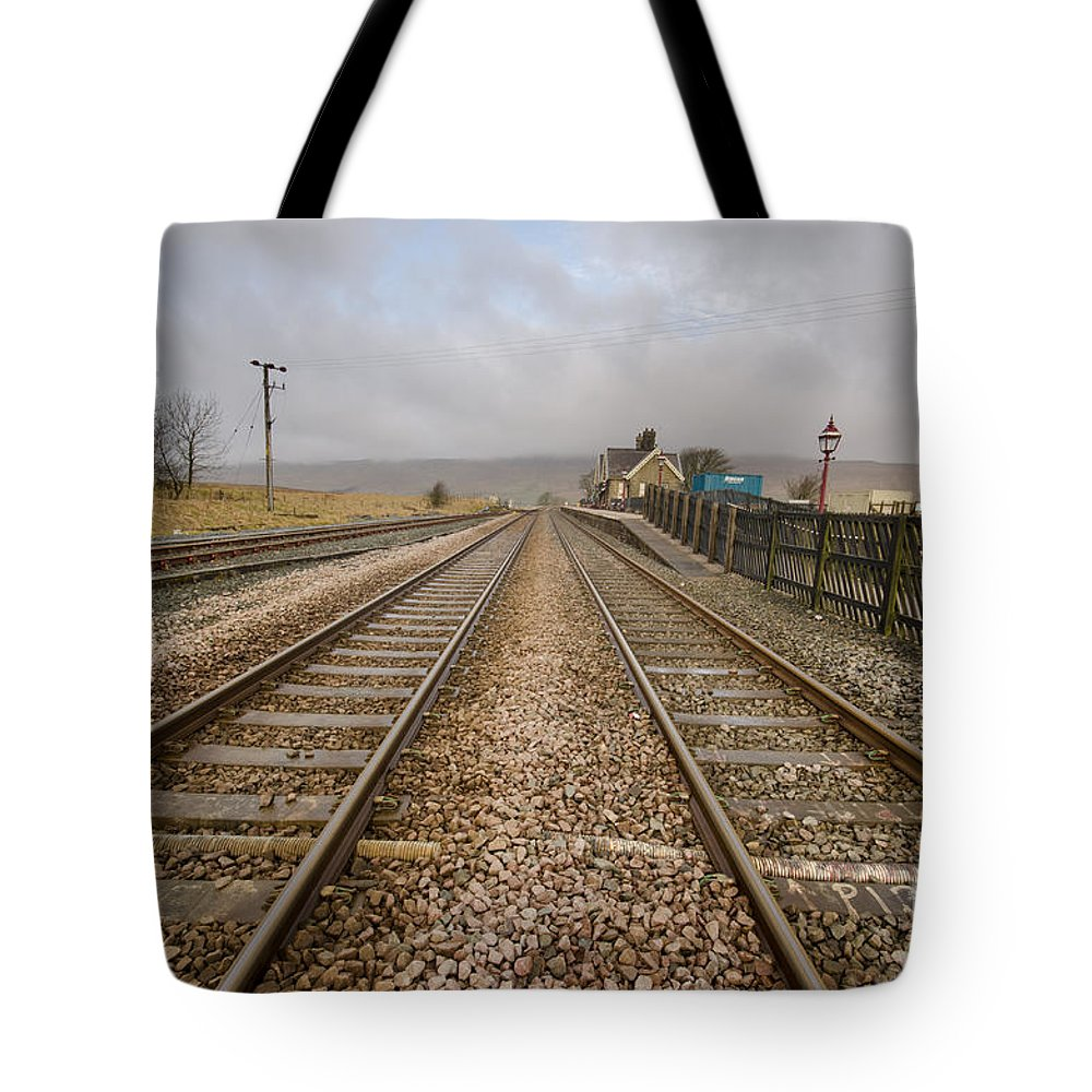 Ribblehead Viaduct Tote Bag featuring the photograph Ribblehead Station by Smart Aviation