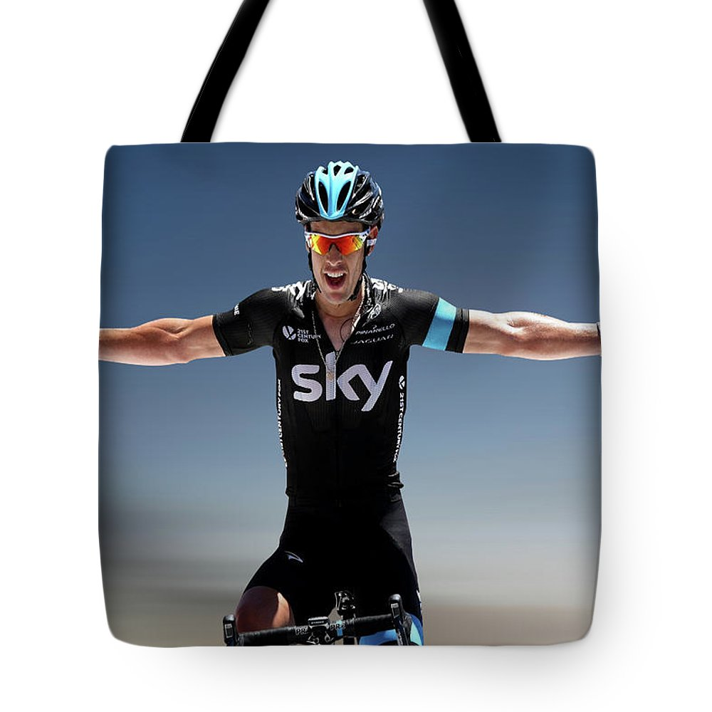 Richie Porte Tote Bag featuring the photograph Richie Porte 2 by Smart Aviation