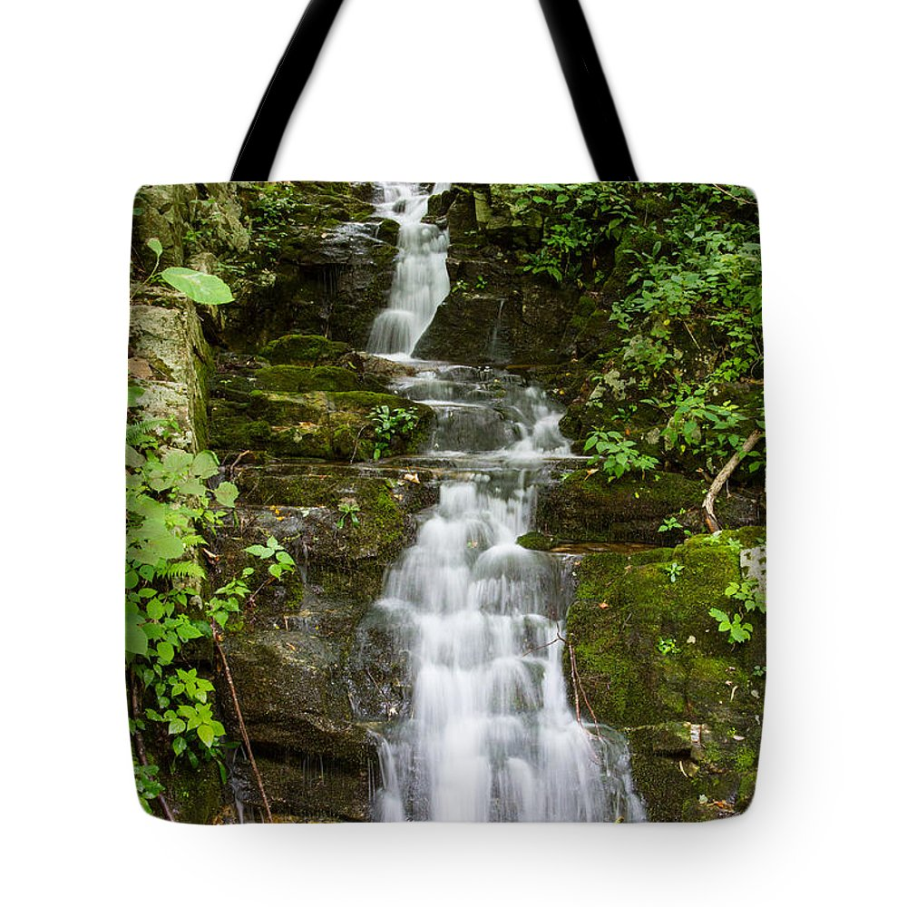 Waterfall Tote Bag featuring the photograph Roadside Waterfall by Rebecca Raybon