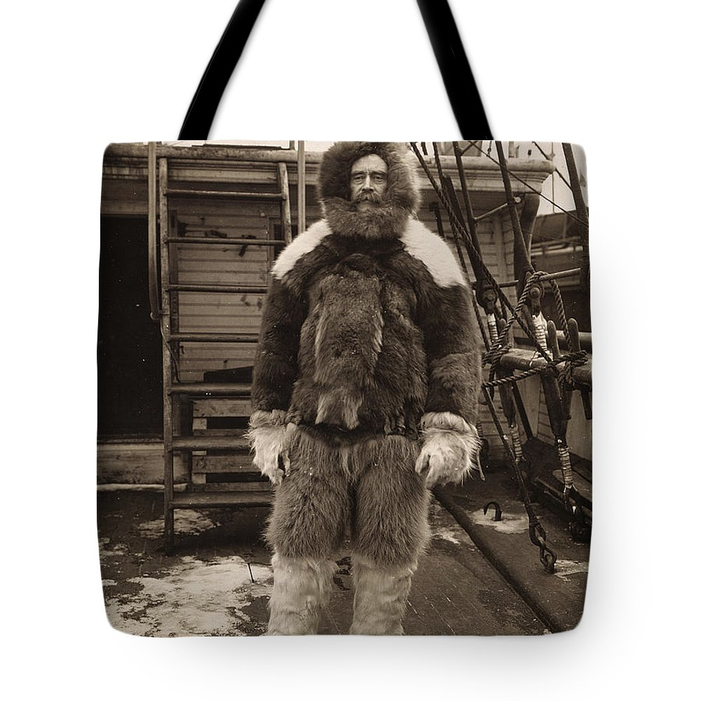 1909 Tote Bag featuring the painting Robert Peary (1856-1920) by Granger