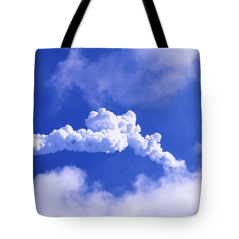 Cloud Tote Bag featuring the photograph Rocket Launch by Allan Hughes