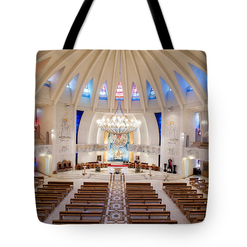 Queen Mary`s Cathedral Tote Bag featuring the photograph Romanian Church by Christian Hallweger