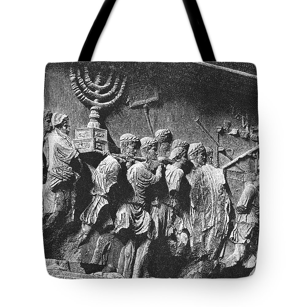 Arch Of Titus Tote Bag featuring the photograph Rome: Arch Of Titus by Granger