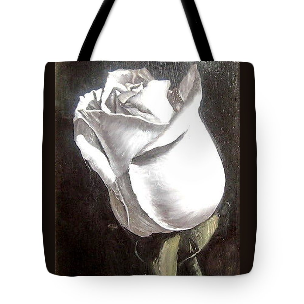 Flower Rose Still Life Tote Bag featuring the painting Rose 2 by Natalia Tejera