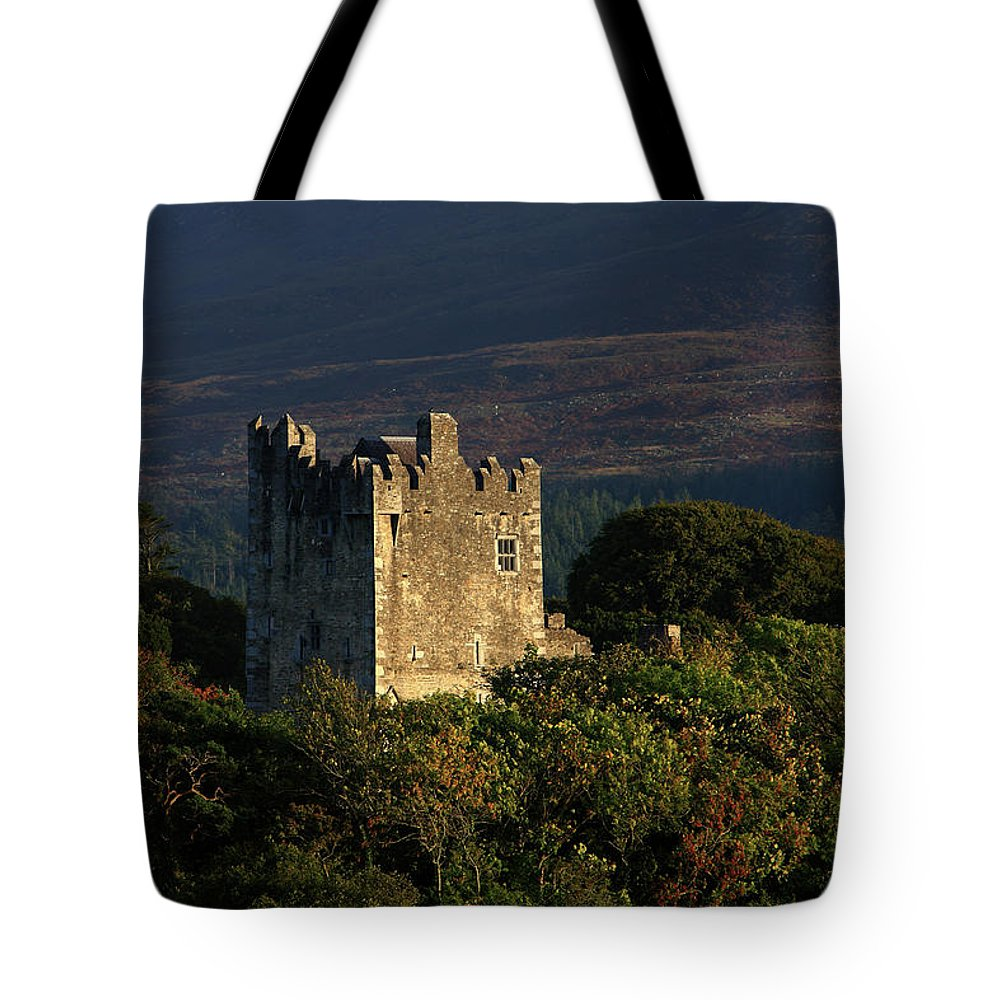 Castle Tote Bag featuring the photograph Ross Castle, Killarney National Park by Aidan Moran