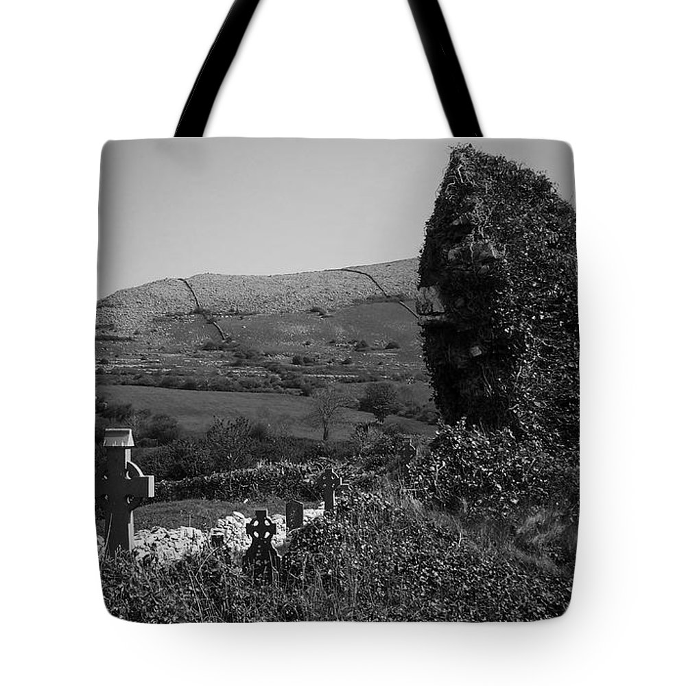 Irish Tote Bag featuring the photograph Ruins In The Burren County Clare Ireland by Teresa Mucha