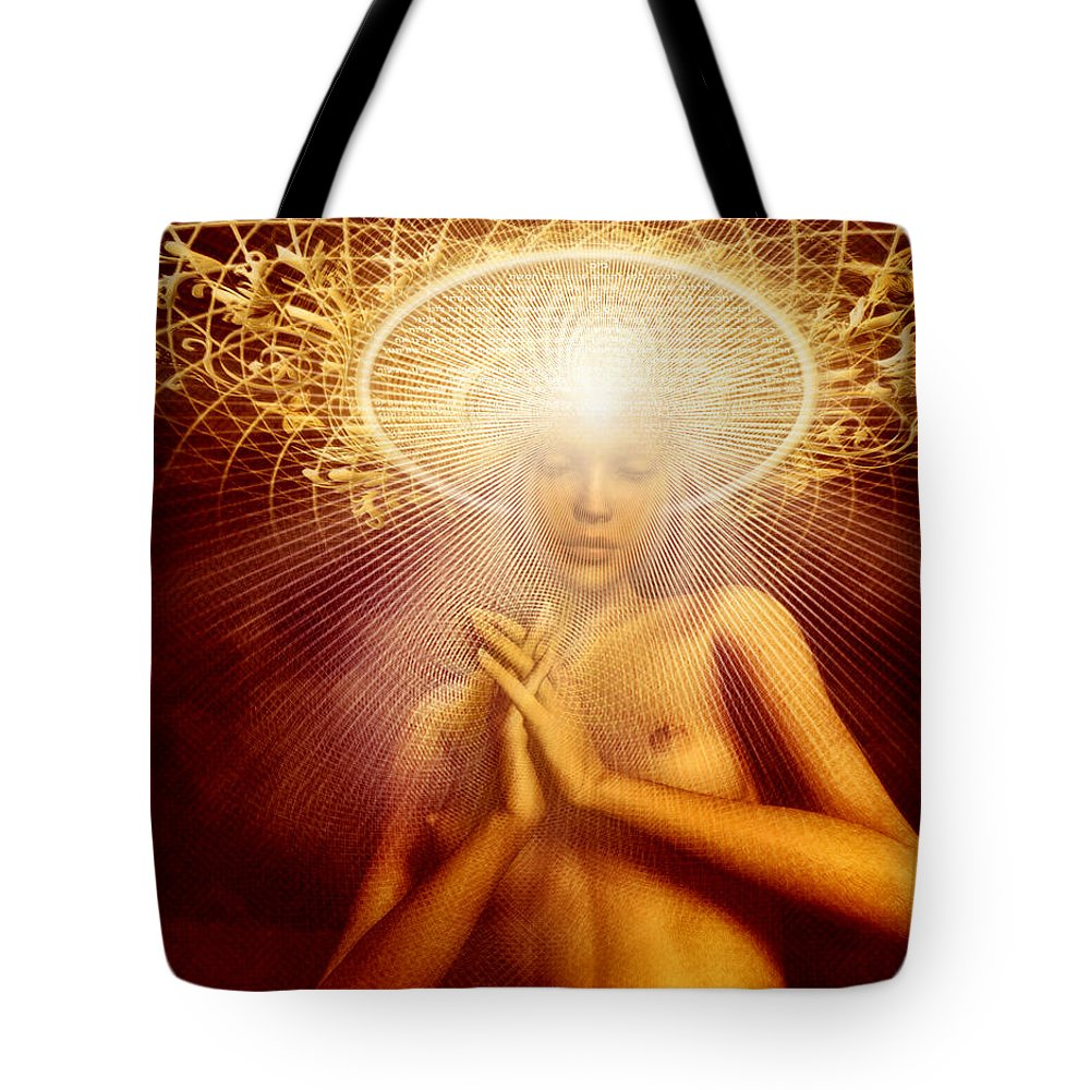 Sacred Contract Tote Bag featuring the painting Sacred Contract by Robby Donaghey