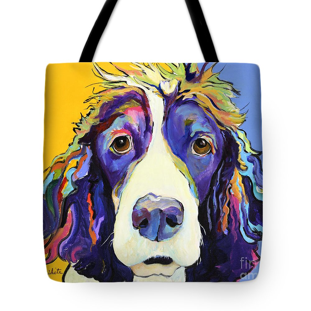 Blue Tote Bag featuring the painting Sadie by Pat Saunders-White
