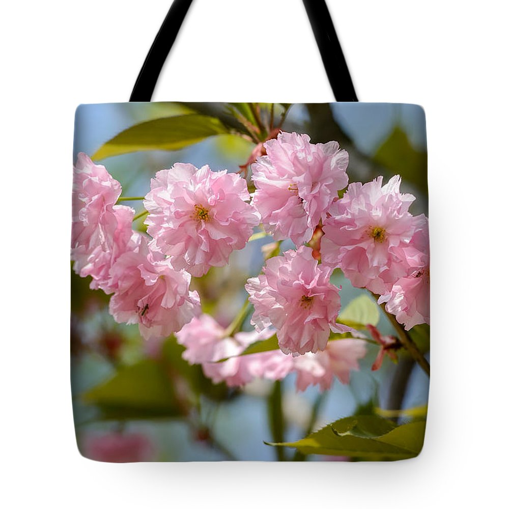 Oriental Tote Bag featuring the photograph Sakura Flowers by Alain De Maximy