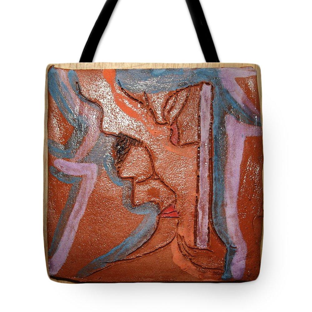 Jesus Tote Bag featuring the ceramic art Salon - Tile by Gloria Ssali