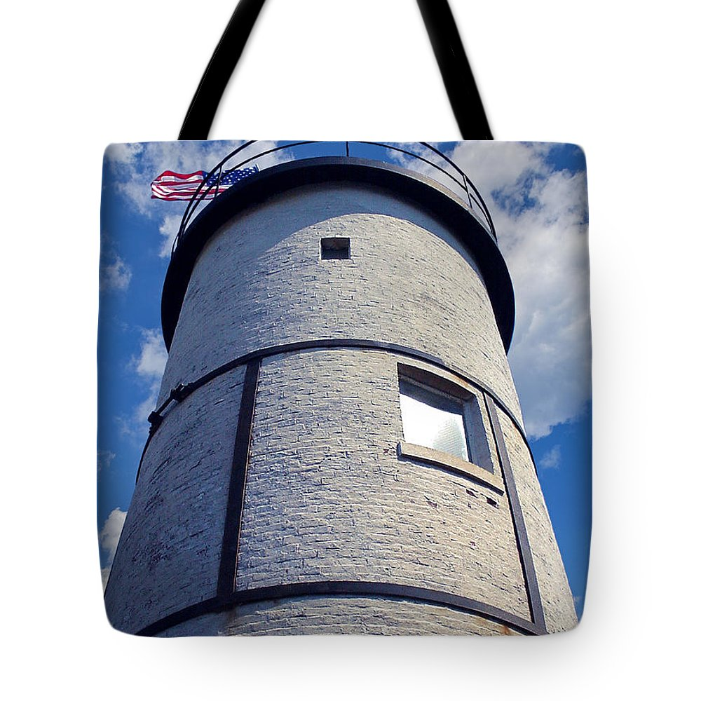 4th Of July Tote Bag featuring the photograph Sandy Neck Lighthouse by Charles Harden