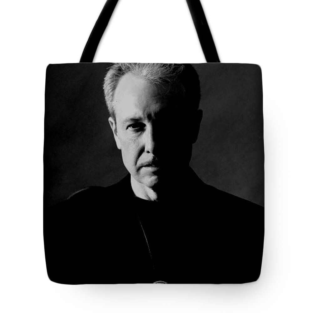 Portrait Tote Bag featuring the photograph Scary by John Graziani