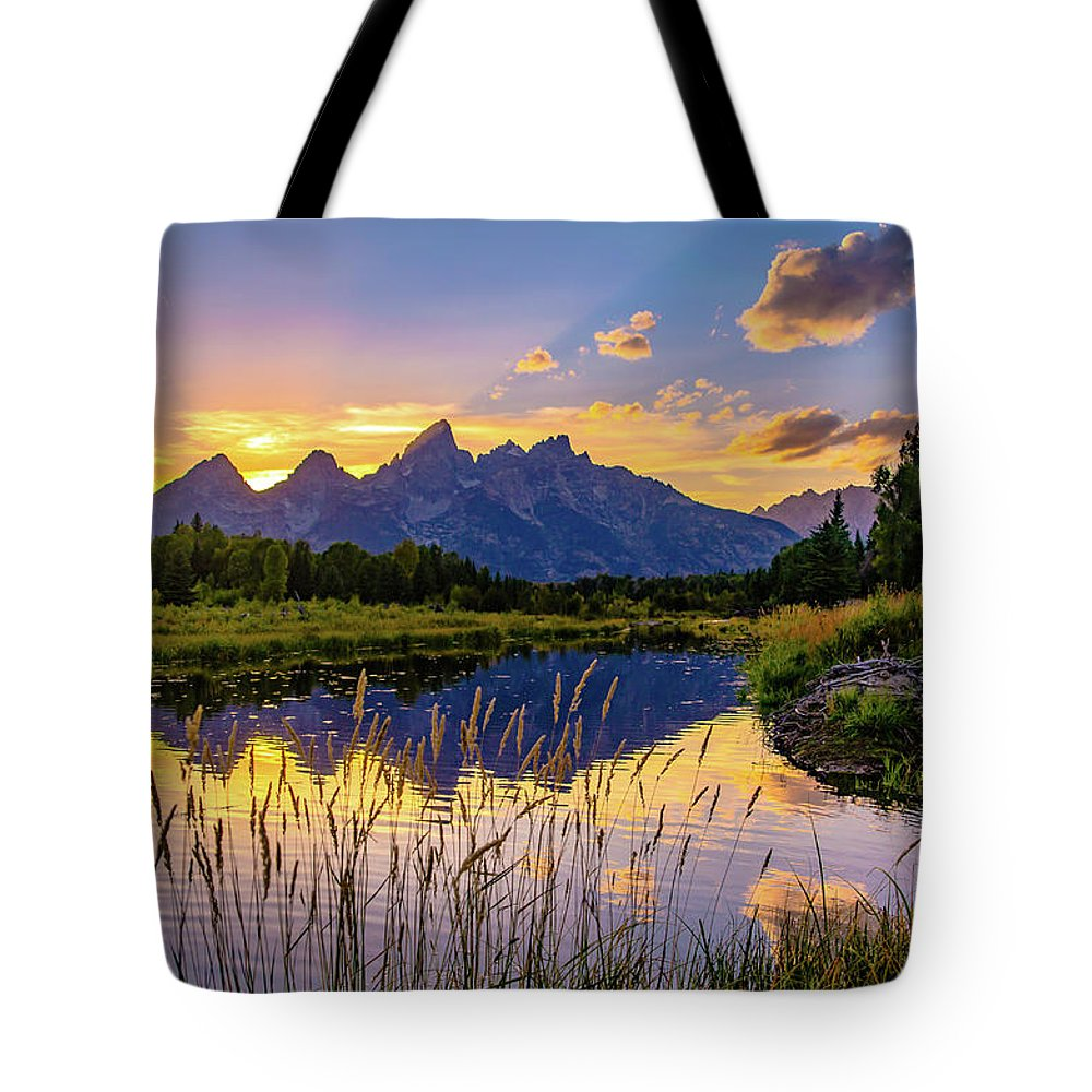 Gtnp Tote Bag featuring the photograph Schwabacher's Reflection by Lowlight Images