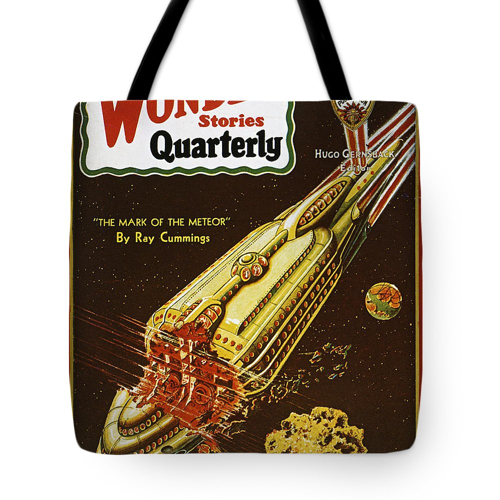 1931 Tote Bag featuring the photograph Sci-fi Magazine Cover, 1931 by Granger