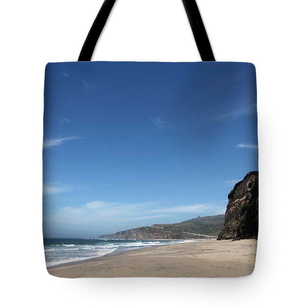 scott Creek Beach Tote Bag featuring the photograph Scott Creek Beach California Usa by Amanda Barcon