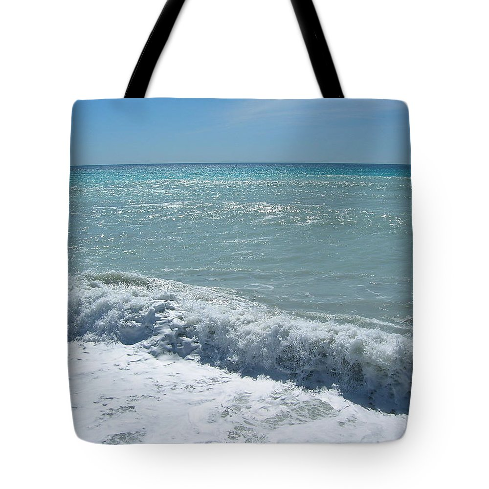Sea Tote Bag featuring the photograph Sea Waves In Italy by Tiziana Verso