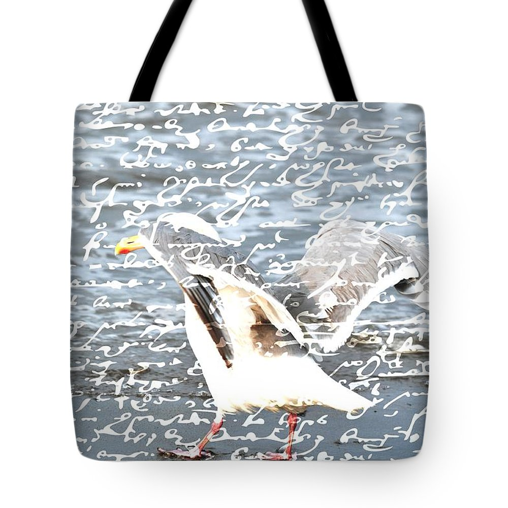Seagulls Tote Bag featuring the photograph Seagull by Debra Miller