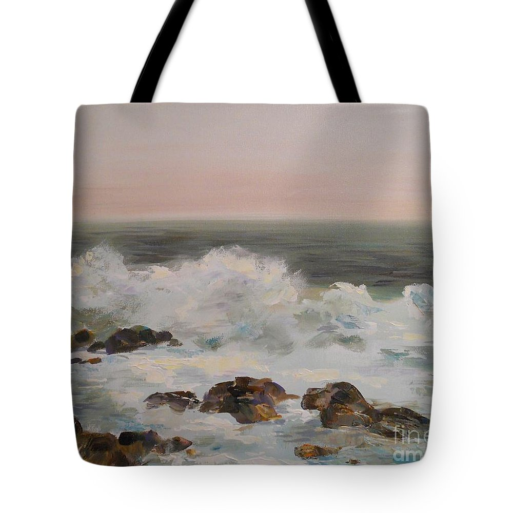 Sea Tote Bag featuring the painting Seascape by Angelina Nedin