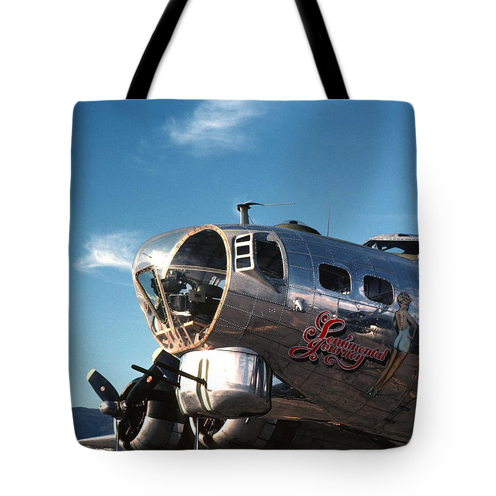 B17 Tote Bag featuring the photograph Sentimental Journey by Spencer Bush