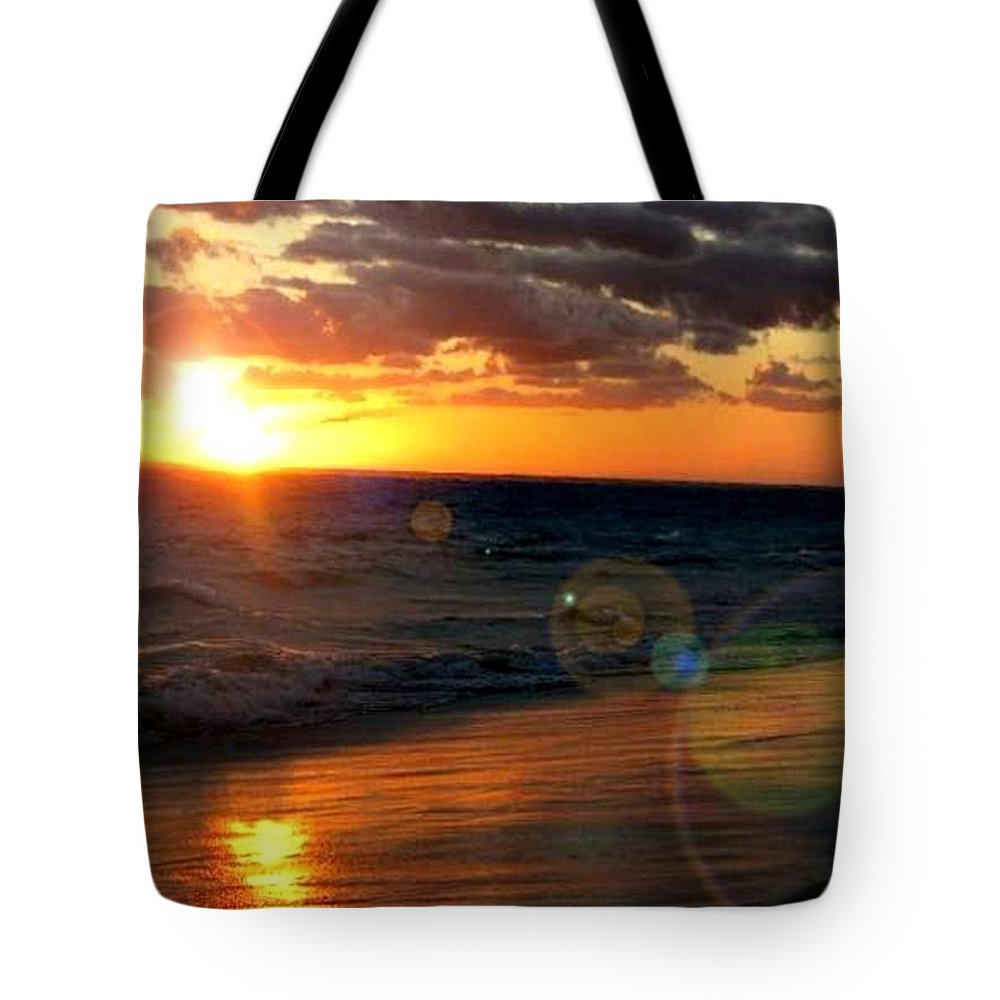Sunrise Tote Bag featuring the photograph Serenity by Kelly Turner