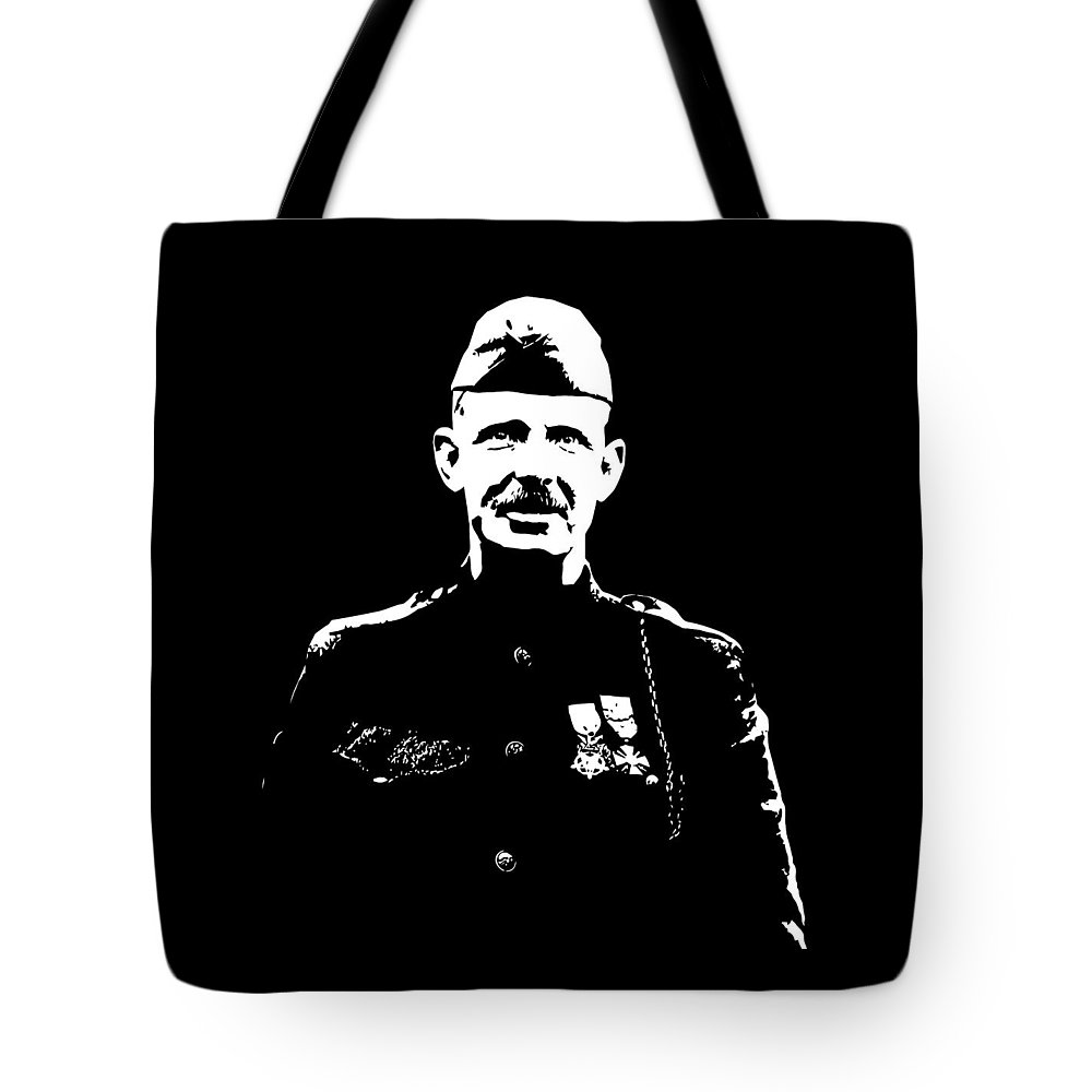 Sergeant York Tote Bag featuring the mixed media Sergeant Alvin York Graphic by War Is Hell Store