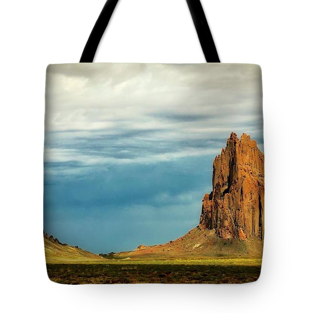 Nature Tote Bag featuring the photograph Shiprock, New Mexico by Zayne Diamond Photographic