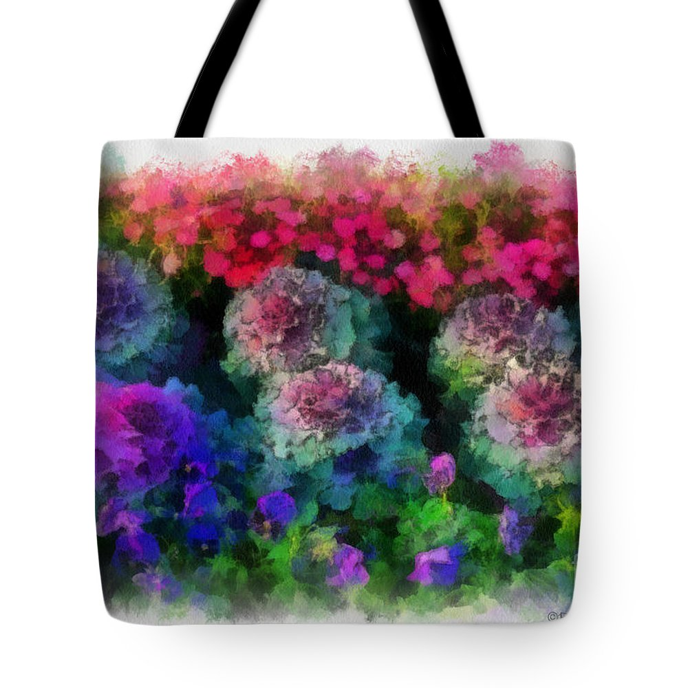 Flower Tote Bag featuring the painting Signs Of Spring by Paulette B Wright