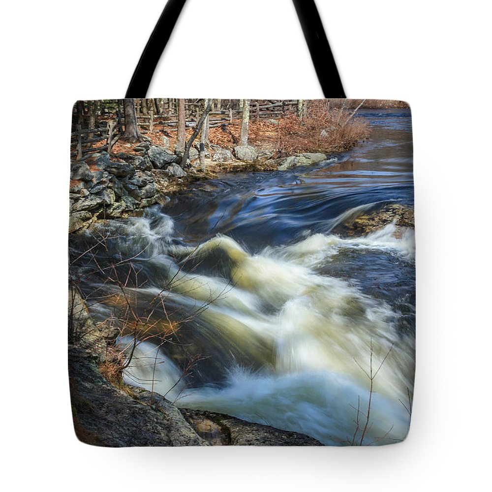 Maine Tote Bag featuring the photograph Silky Water by Jane Luxton