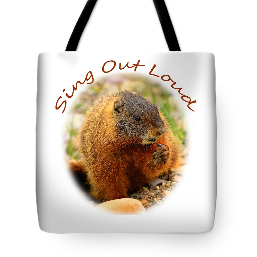 T-shirt Tote Bag featuring the photograph Sing Out Loud by Greg Norrell