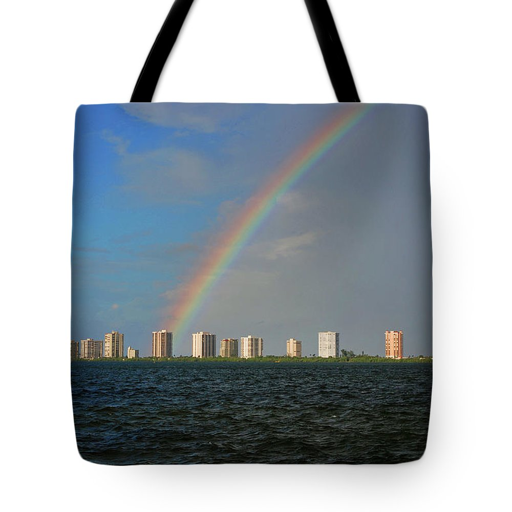 Rainbow Tote Bag featuring the photograph 1- Singer Island by Rainbows