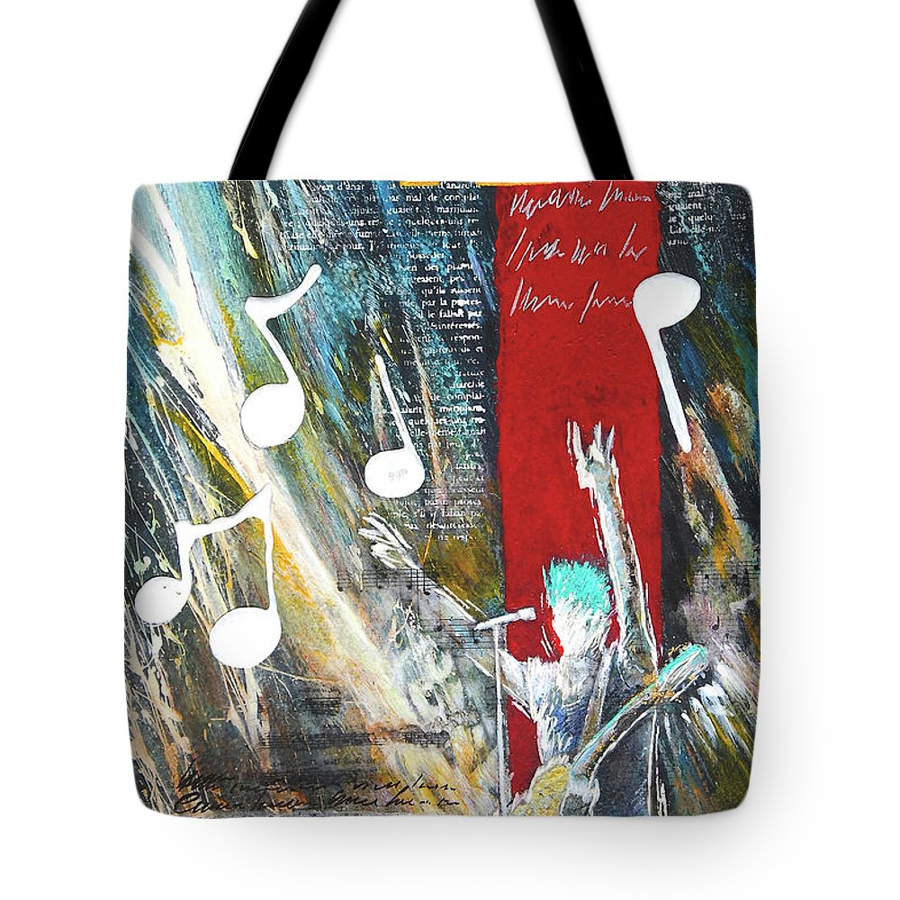 Painting Tote Bag featuring the painting Singer by Jean-luc Lacroix