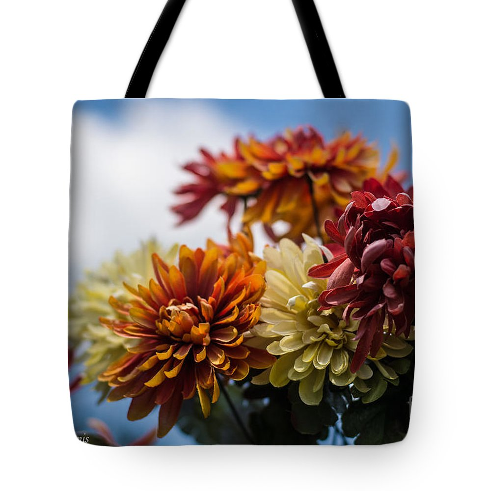 Flowers Tote Bag featuring the photograph Sky Flowers by James Hennis