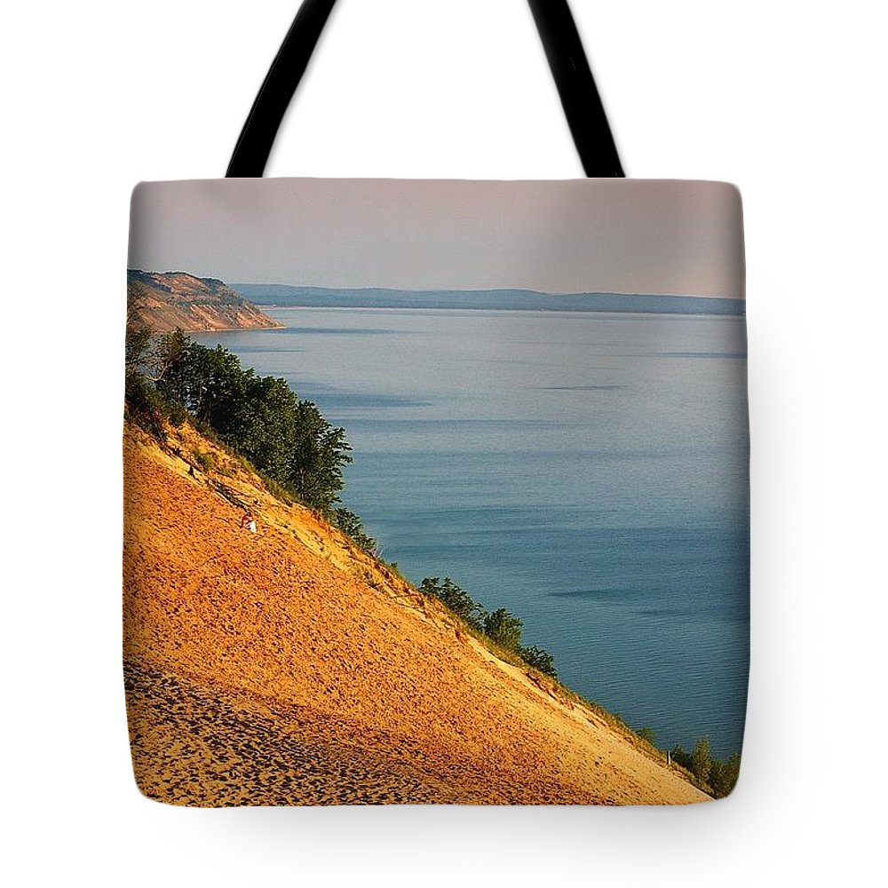 Sand Tote Bag featuring the photograph Sleeping Bear Dunes by Randy Pollard