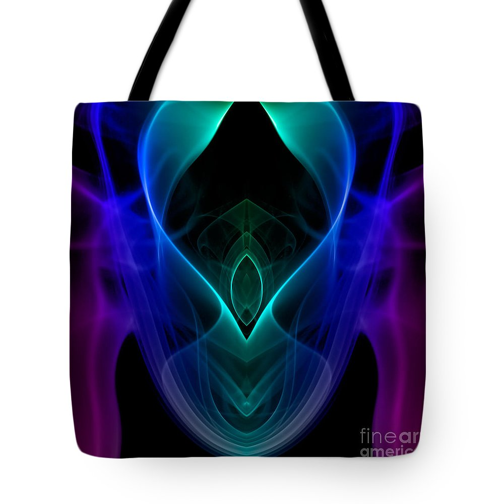 Abstract Tote Bag featuring the photograph smoke XIX by Joerg Lingnau