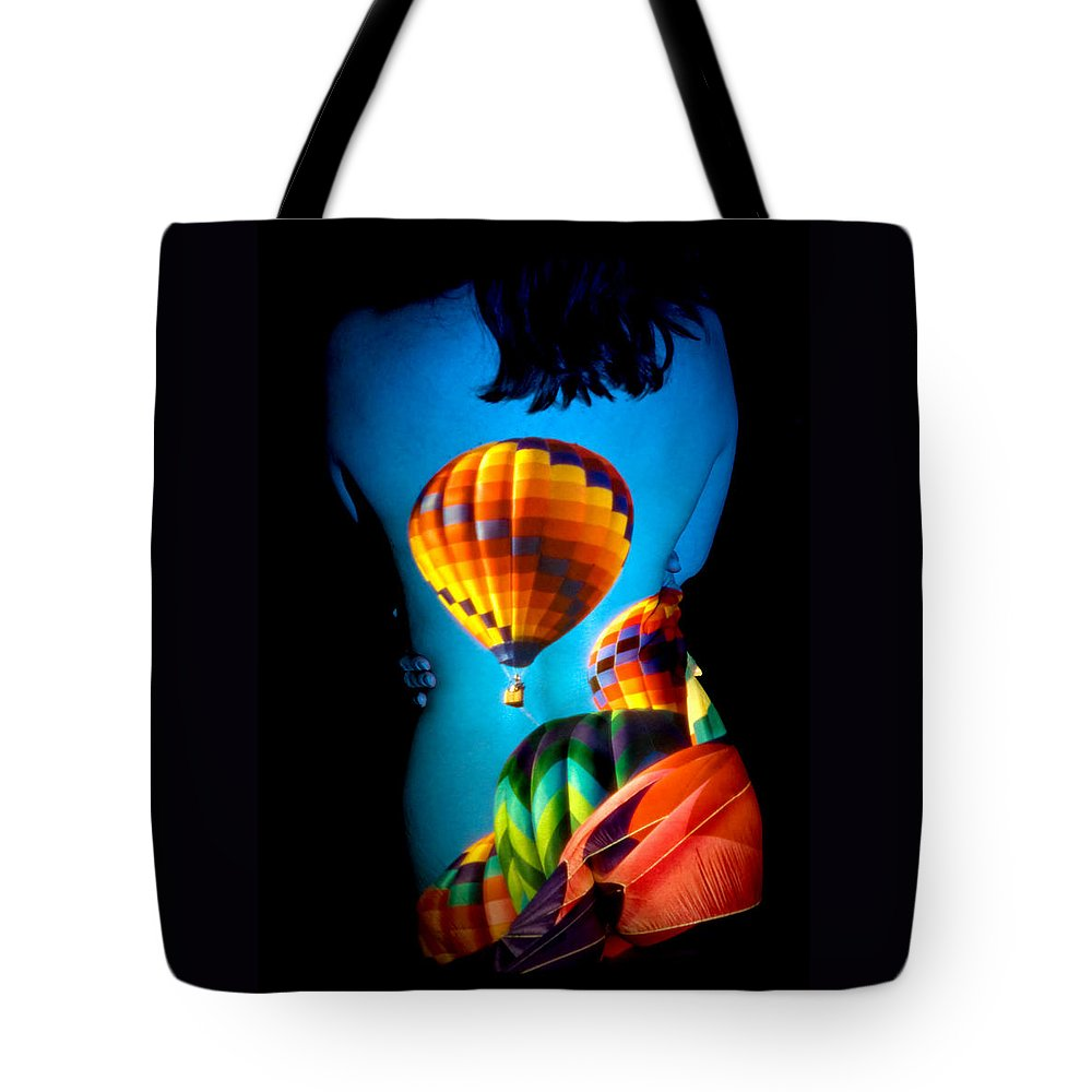 Hot Air Balloon Tote Bag featuring the photograph Soarin Beauty by Greg Fortier