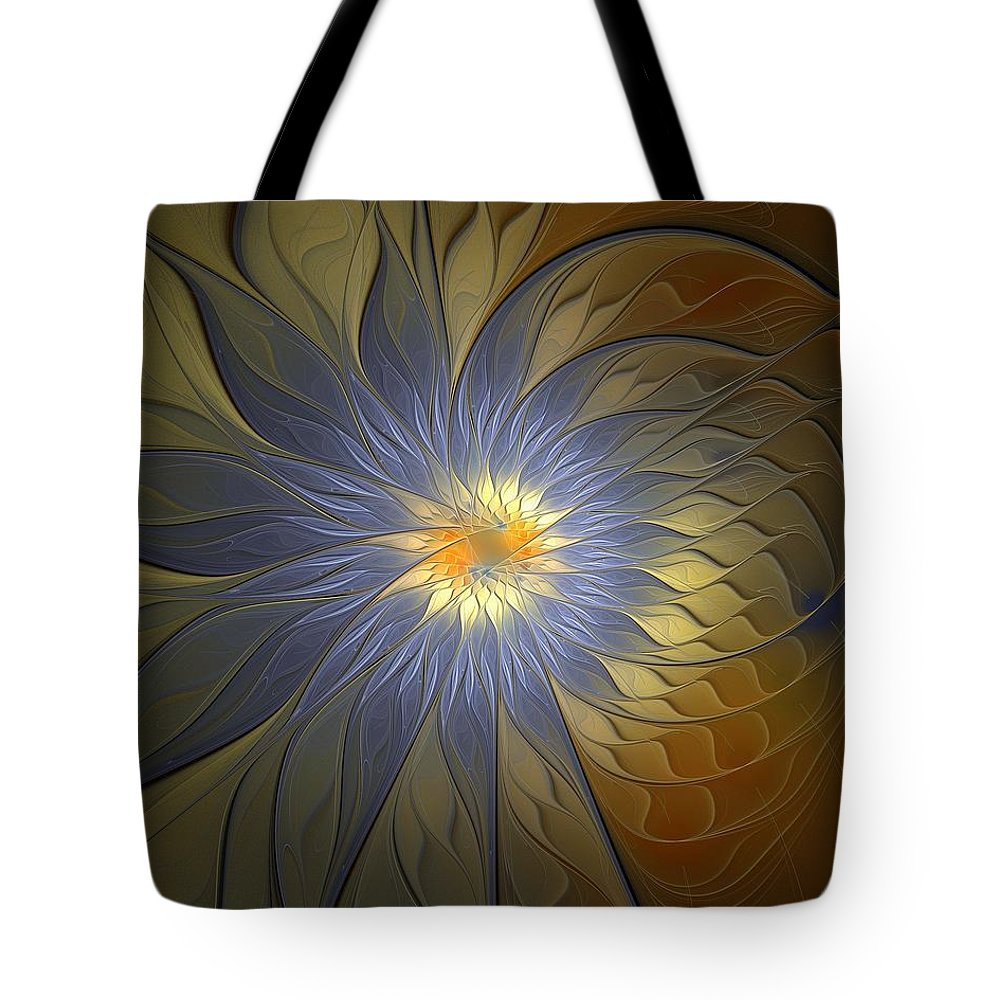 Digital Art Tote Bag featuring the digital art Something Blue by Amanda Moore