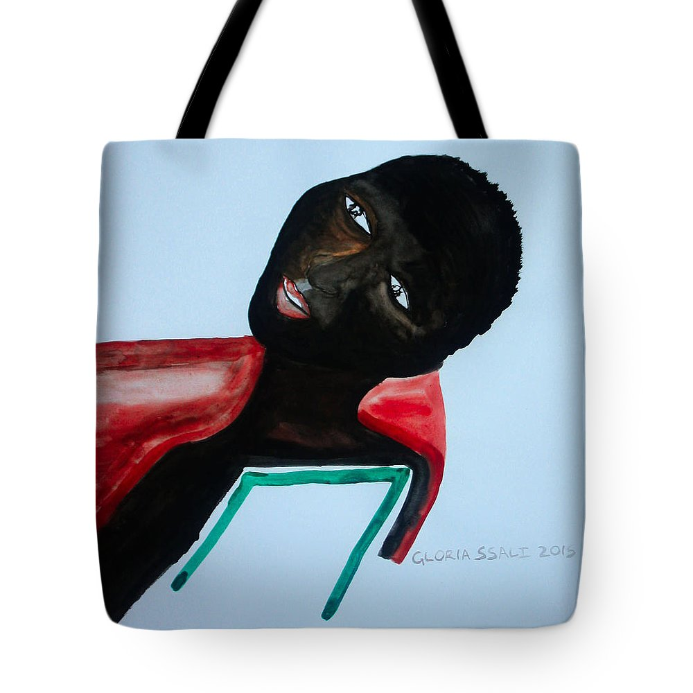 Jesus Tote Bag featuring the painting South Sudan Bride by Gloria Ssali