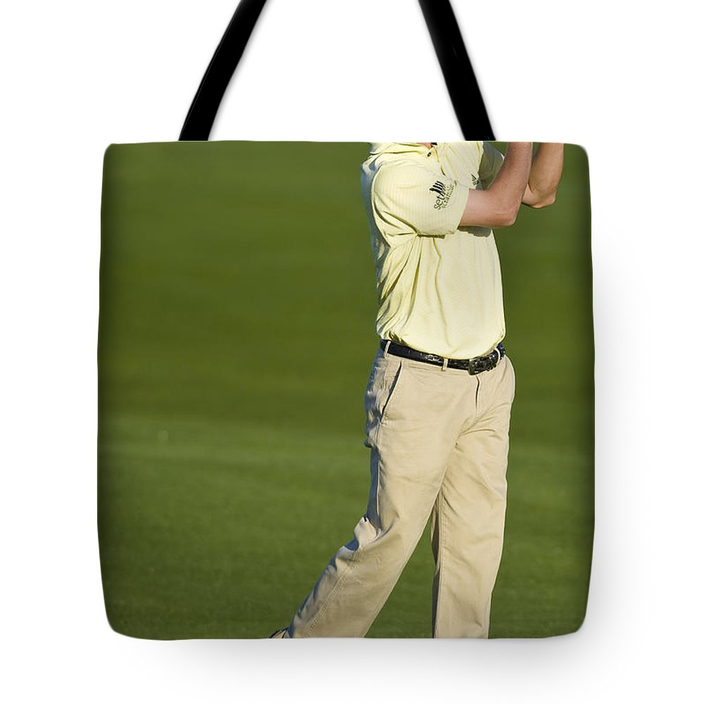 Pebble Beach Tote Bag featuring the photograph Spencer Levin by Jason O Watson