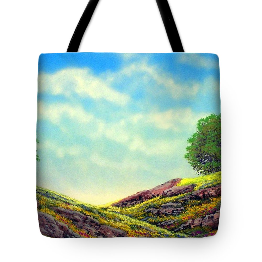 Landscape Tote Bag featuring the painting Spring Day by Frank Wilson