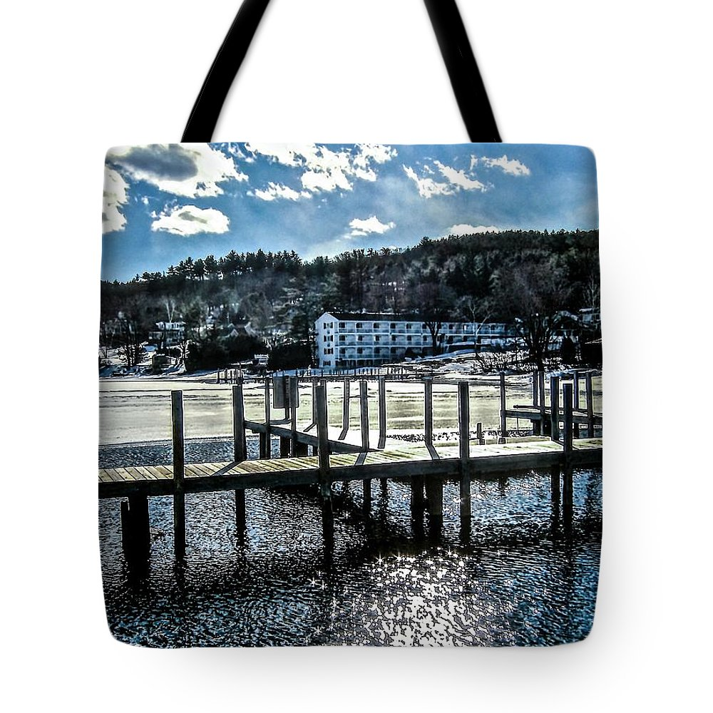 Lake Tote Bag featuring the photograph Spring Thaw by Elizabeth Tillar