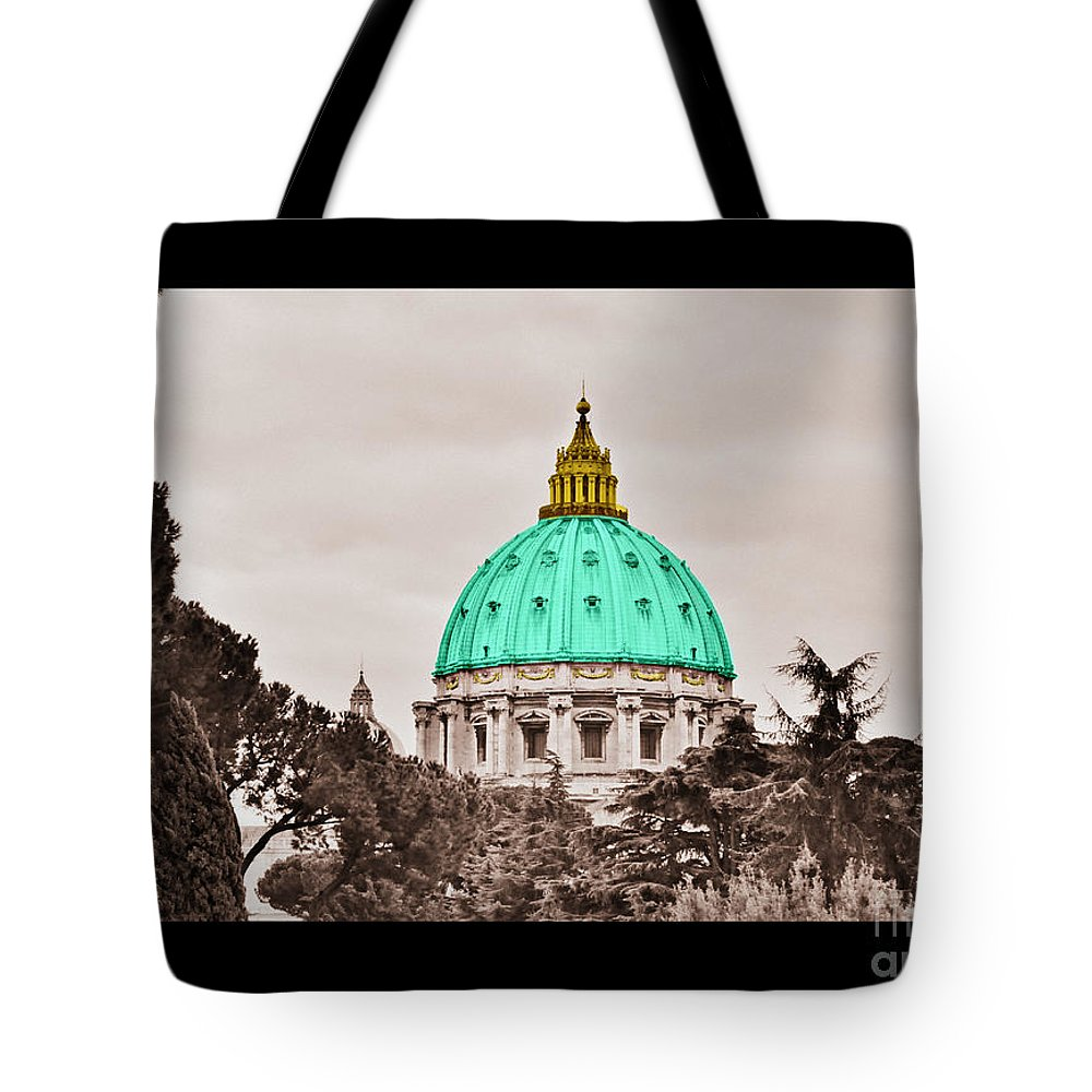 Saint Tote Bag featuring the photograph St. Peters Basilica by Eric Liller