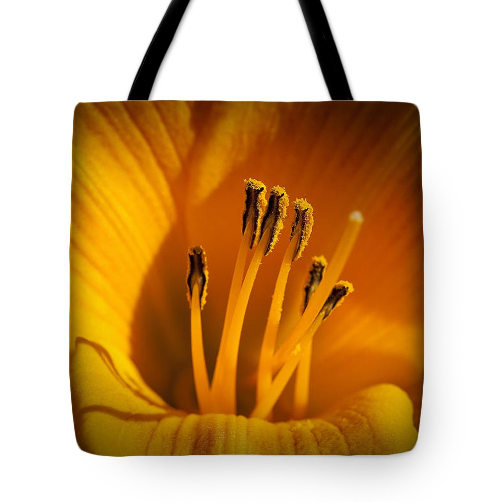 Flowers Tote Bag featuring the photograph Stamens by Kelley King