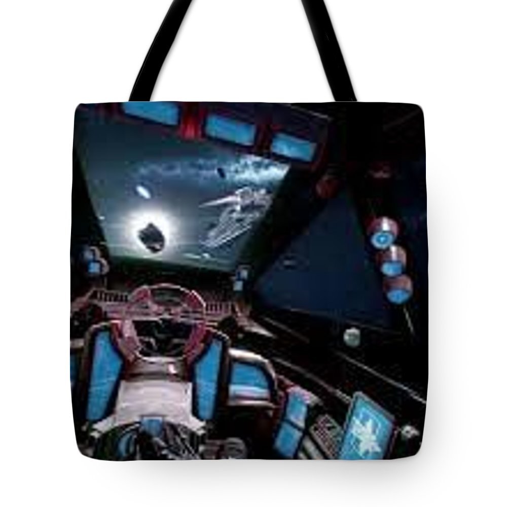 What Is Star Citizen Tote Bag featuring the sculpture Starcitizengamepackage by StarCitizenGamePackage