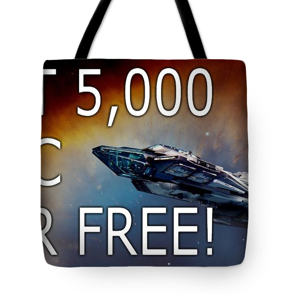 Star Citizen Referral Code Tote Bag featuring the sculpture Starcitizenreferralcode by Starcitizenreferralcode